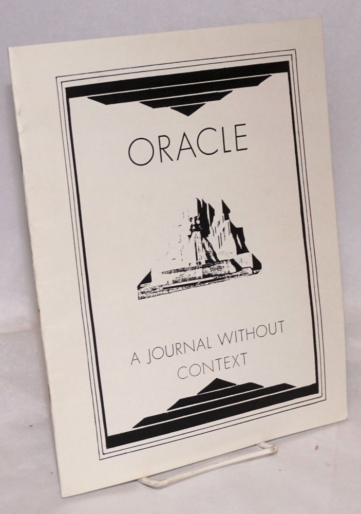 Oracle: a journal without context. Tim McCabe.