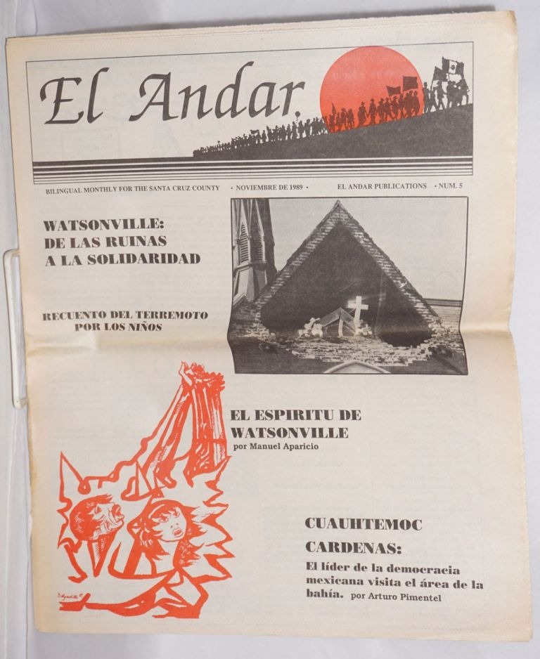 El Andar: bilingual monthly for the Santa Cruz County, numero 5, Noviembre de 1989