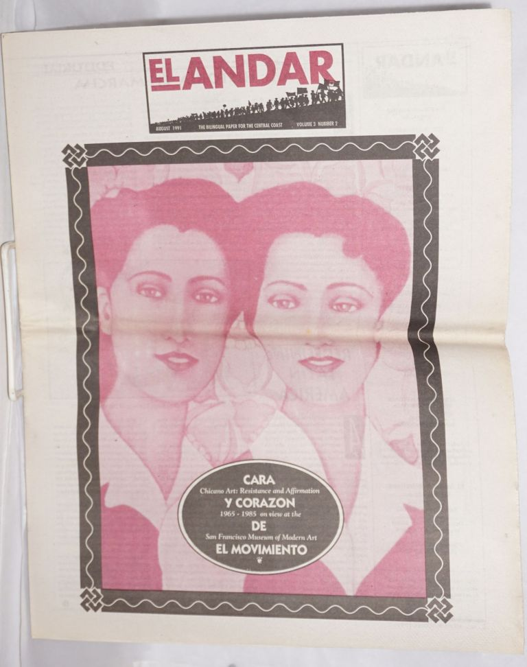 El Andar: bilingual monthly for the Central Coast, vol. 3 no. 2, August 1991