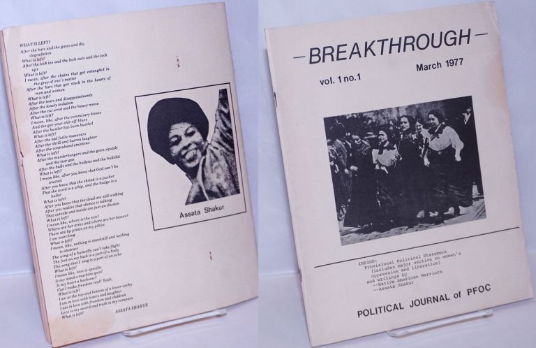 Breakthrough; political journal of PFOC. First issue, March 1977. Prairie Fire Organizing Committee.