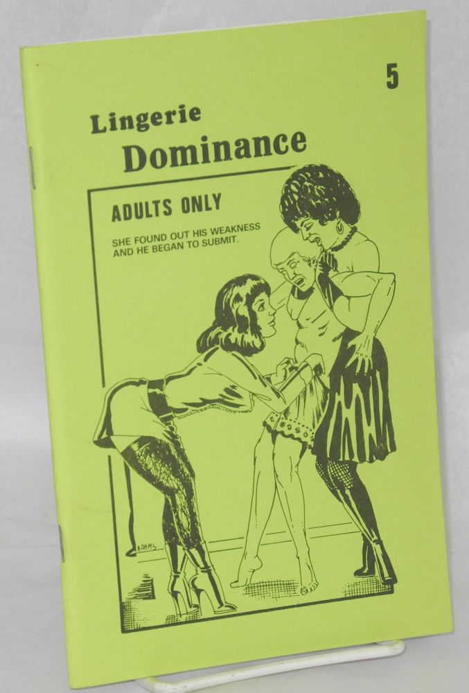 Lingerie dominance 5. Adams, cover Anonymous.