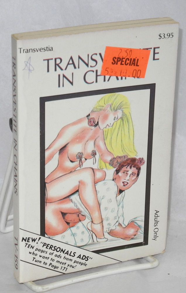 Transvestite in chains. Anonymous.