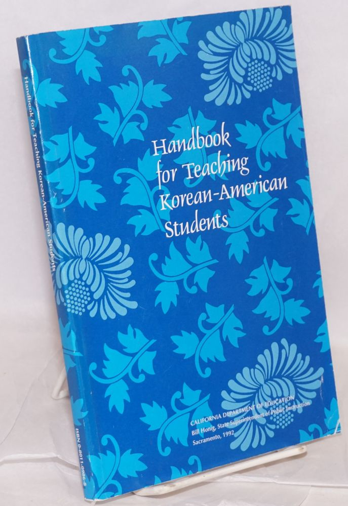Handbook for Teaching Korean-American Students developed by the Bilingual Education Office
