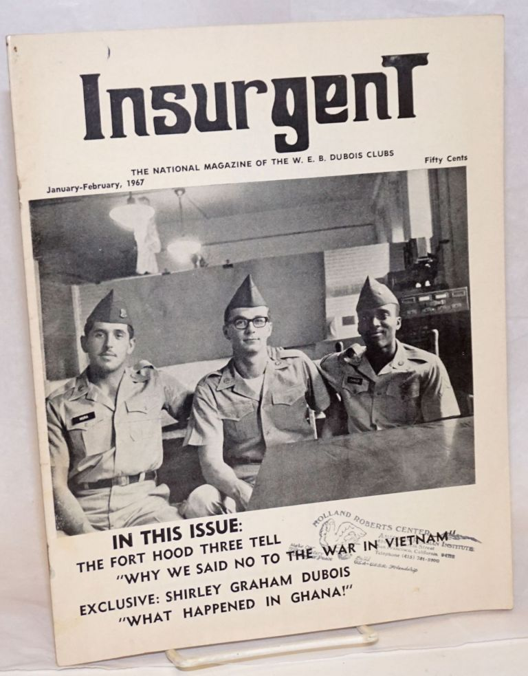 Insurgent: the national magazine of the W.E.B. DuBois Clubs; vol. 3, no. 1 January-February 1967. James - Peake.