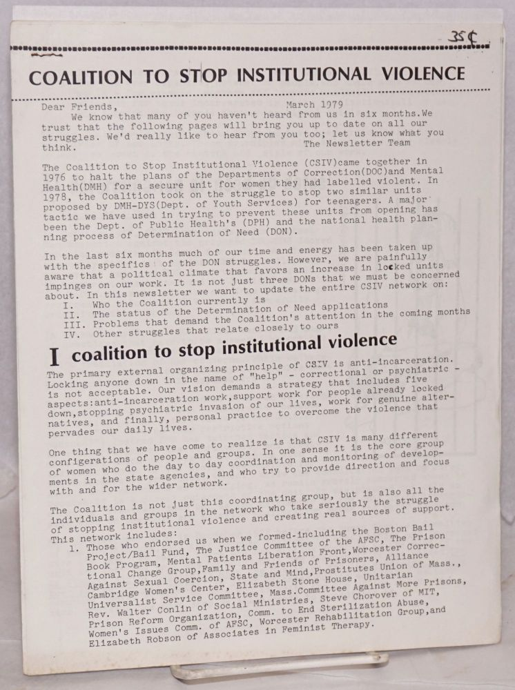 Coalition to Stop Institutional Violence March 1979