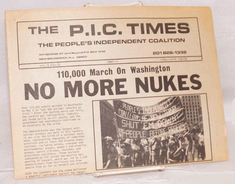 The P. I. C. times: vol. 3, no. 3, May/June 1979. People's Independent Coalition.