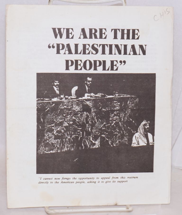 "We are the ""Palestinian People."""