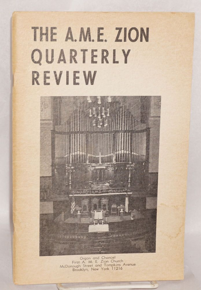The A.M.E. Zion quarterly review. vol. lxxx, no. 4 (Winter 1968). African Methodist Episcopal Zion Church.