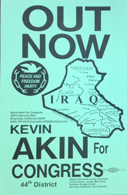 Out Now / Kevin Akin for Congress, 44th district. Kevin Akin.