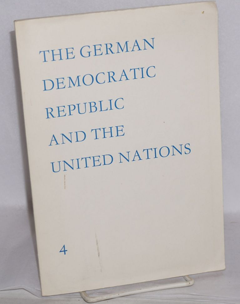 The German Democratic Republic and the United Nations