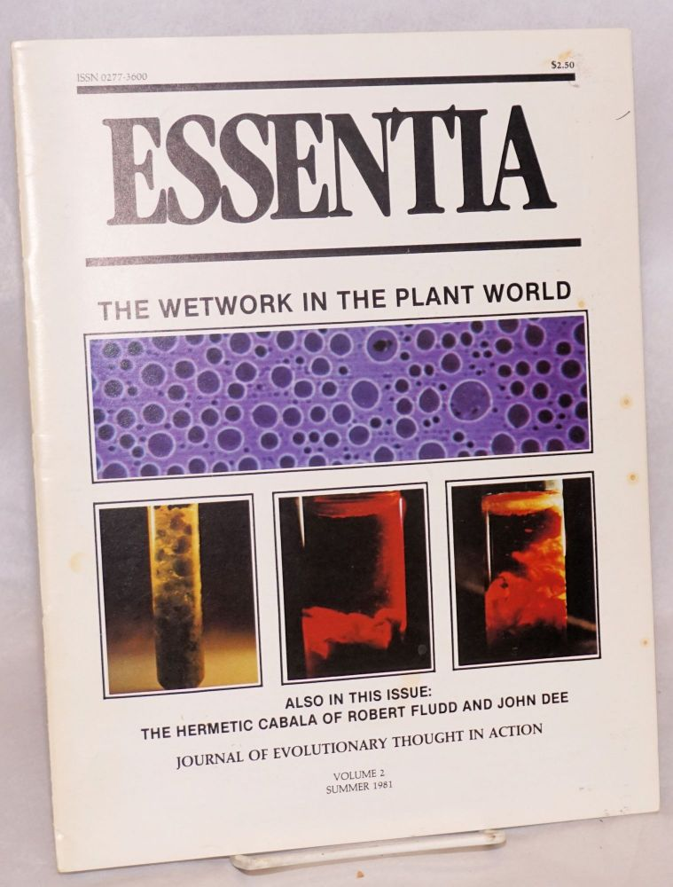 Essentia: Journal of Evolutionary Thought in Action, Vol. 2, Summer 1981. Art Kunkin.