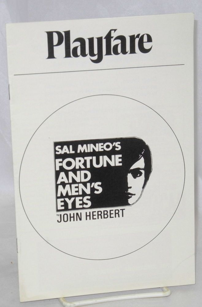 Sal Mineo's Fortune and Men's Eyes by John Herbert Play-Fare volume 2 issue 3, March 1970, program/playbill. John Herbert, Jack Brundage Sal Mineo.
