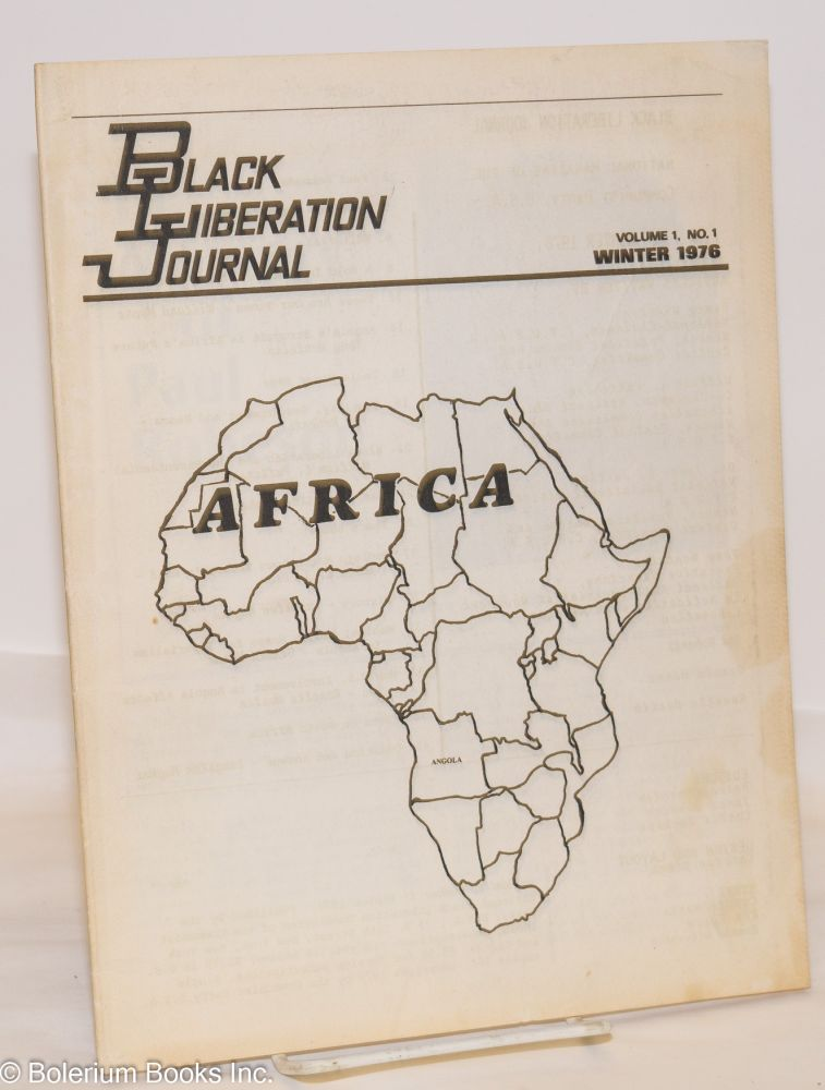 Black liberation journal; Vol. 1, # 1
