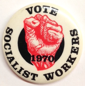 Vote Socialist Workers 1970 [pinback button]. Socialist Workers Party.