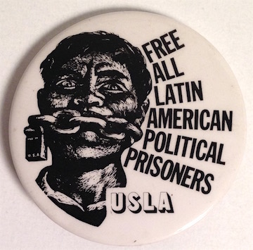 Free all Latin American Political Prisoners / USLA [pinback button]