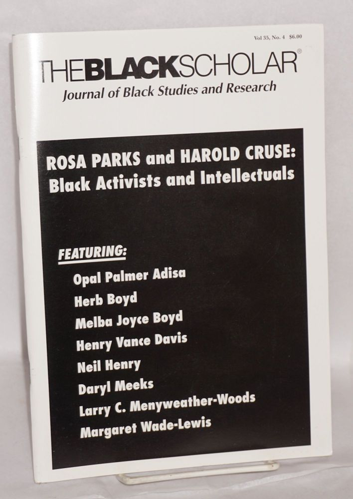 The Black Scholar Journal of Black Studies and Research; Volume 35, number 4, Winter 2006. Robert Chrisman, , in chief, publisher.