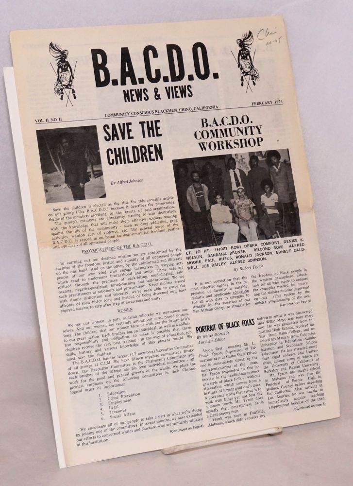 BACDO news and views. Vol. II no. 2 (February 1974). Black Awareness Community Development Organization.