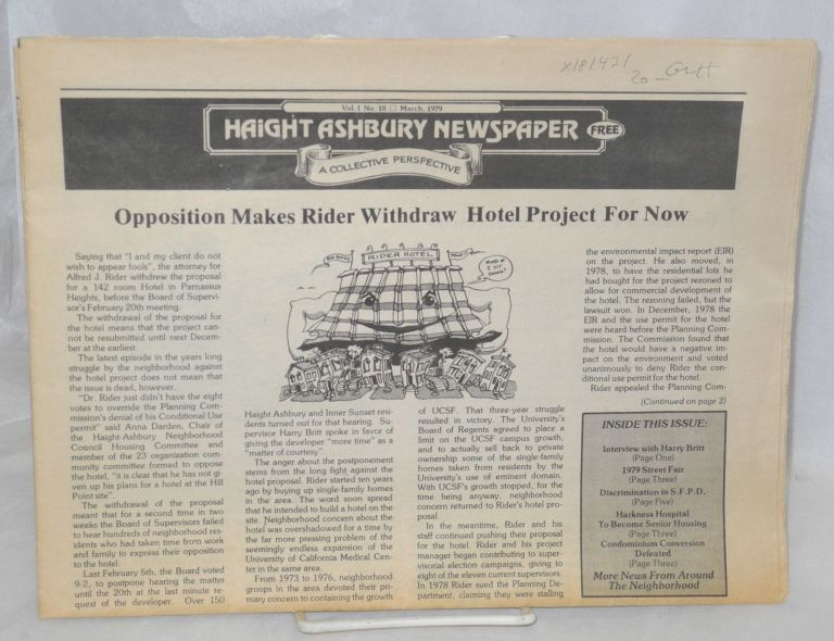 Haight Ashbury Newspaper; Vol. 1, No. 10, March 1979