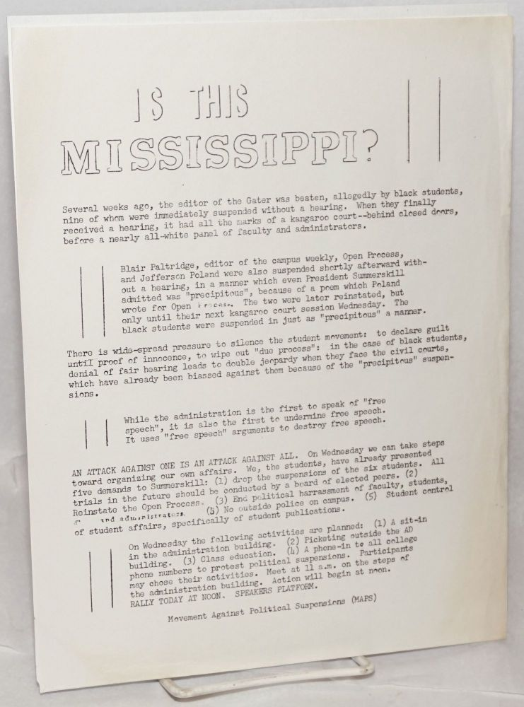 Is this Mississippi? [handbill]