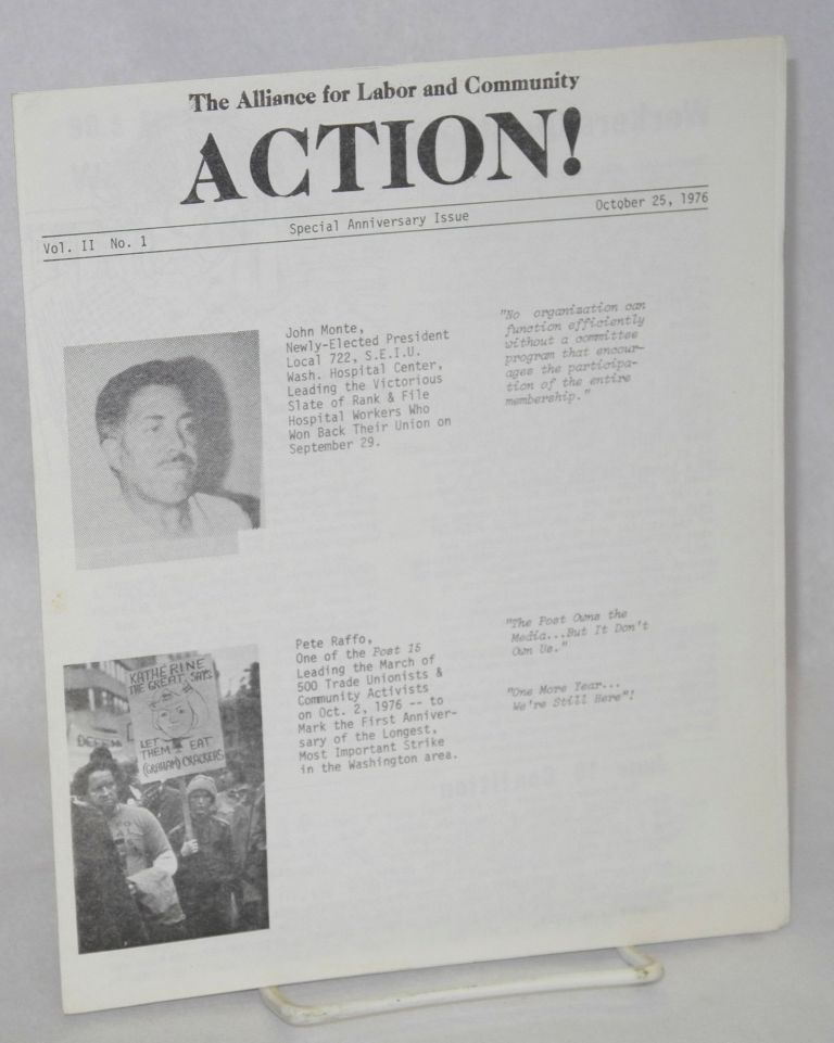 Action! Vol. 2, no. 1 (Oct. 25, 1976) Special anniversary issue. Alliance for Labor, Community Action.