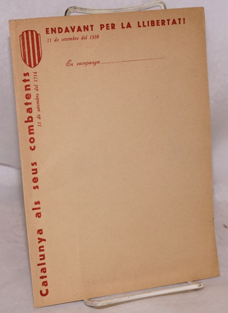 [Catalonian soldier's stationery]