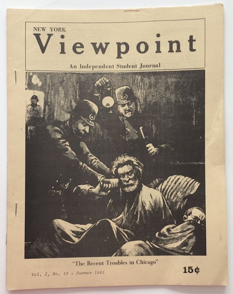 New York Viewpoint: an independent student journal. Vol. 1 no. 10 (Summer 1965). Students for a. Democratic Society.