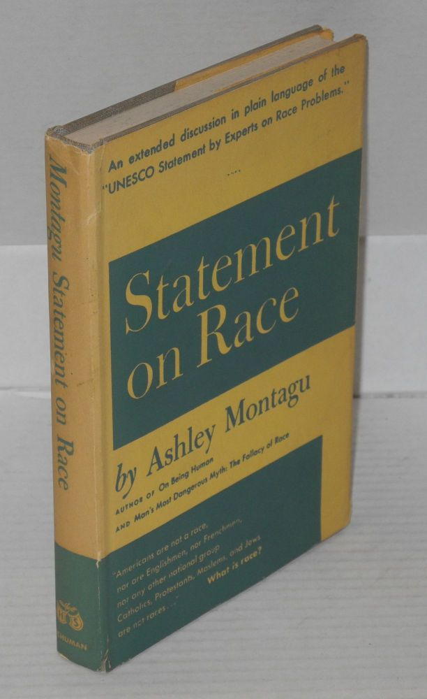 Statement on race. An extended discussion in plain language of the UNESCO Statement by experts on race problems. Ashley Montagu.