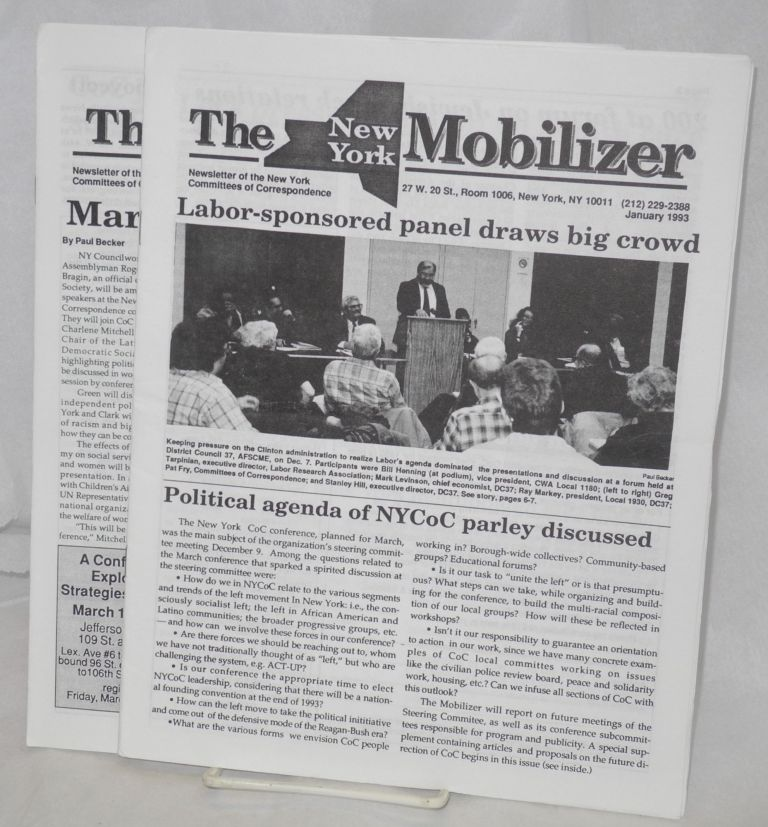 The New York Mobilizer newsletter (two issues: Jan. and Feb/March 1993)