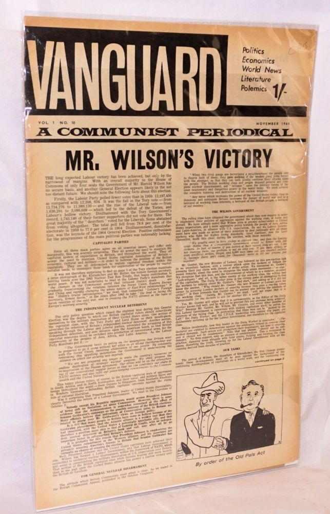 Vanguard. [2 issues]. for Communist Unity Committee to Defeat Revisionism.