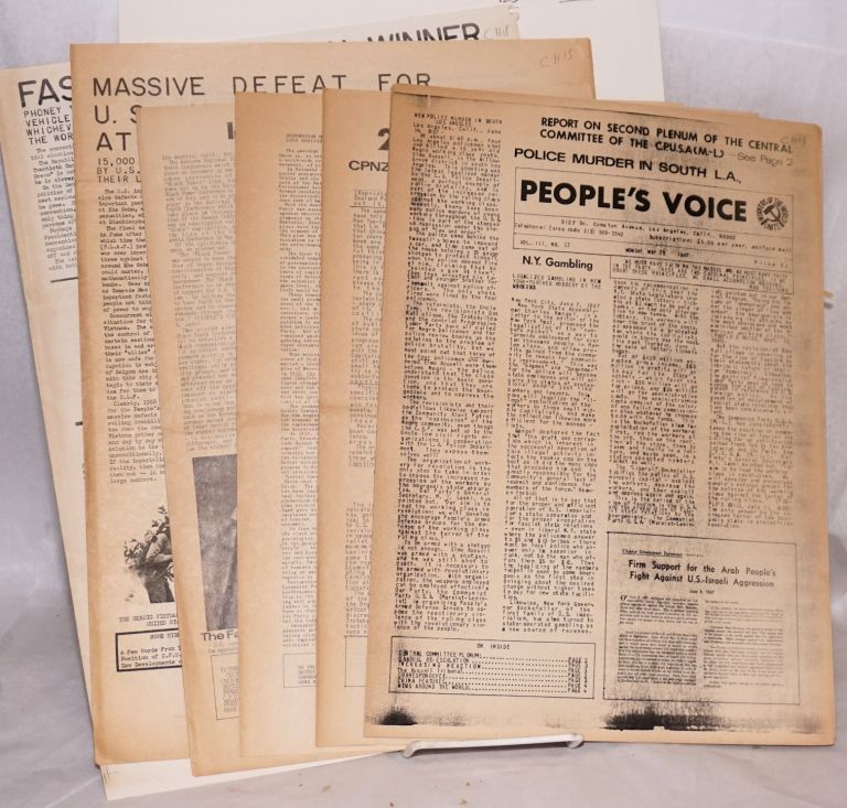 People's Voice [nine issues of the newspaper]. Communist Party of the United States of America, Marxist-Leninist.