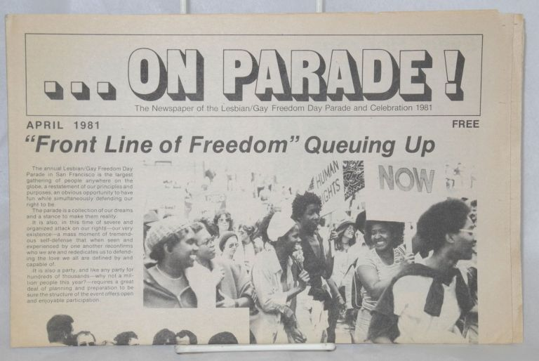 On parade! The newspaper of the Lesbian/Gay Freedom Day Committee, April 1981
