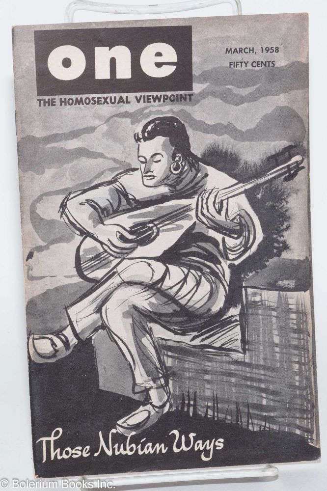 One magazine; the homosexual viewpoint; volume six, number 3, March 1958. Don Slater, William Lambert, Lyn Pedersen.