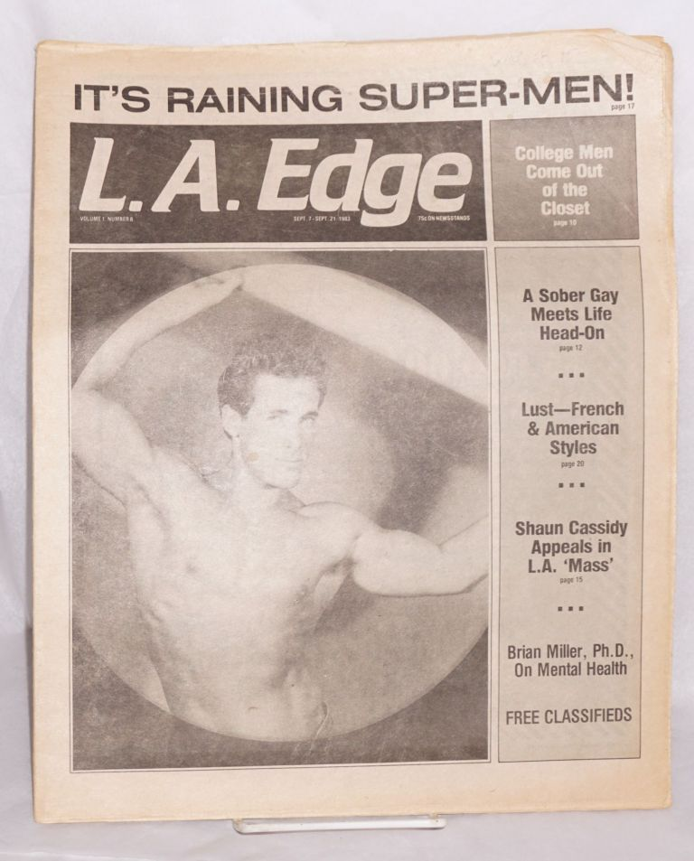 L. A. Edge (aka Edge magazine) vol. 1, #8, Sept. 7-21, 1983