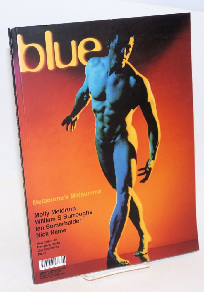 (not only) Blue Issue 42, January 2003. Molly Meldrum, various photographers, Nick Name, William S. Burroughs, Marcello Grand, Karen-Jane Eyre.