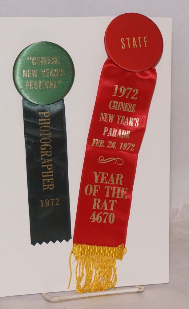 1972 Chinese New Year's Parade [two ribbons]. Chinatown Parade