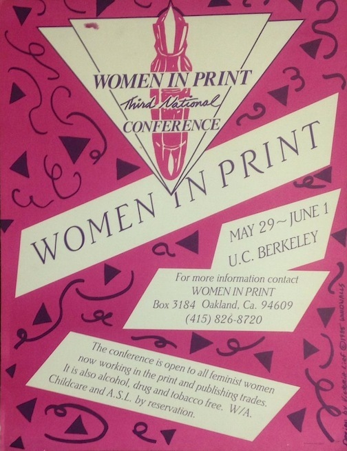 Women in Print. Third national conference [poster]