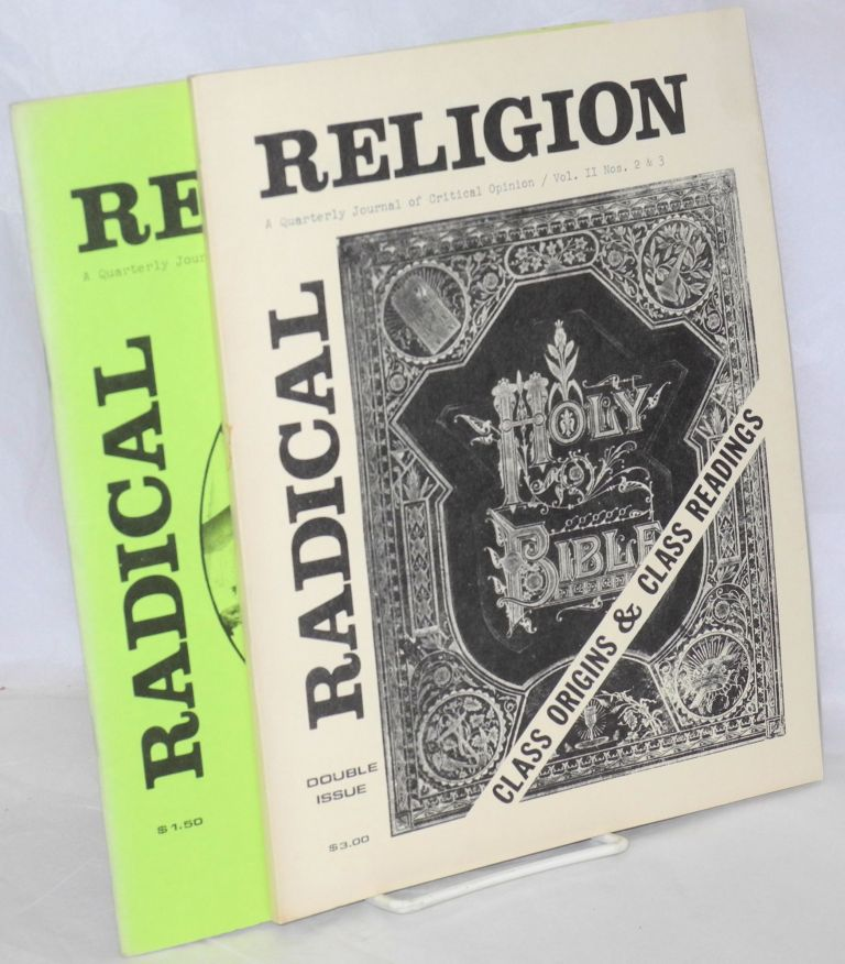 Radical religion: a quarterly journal of critical thought. Vol. 2, nos. 2/3 (double issue) and 4