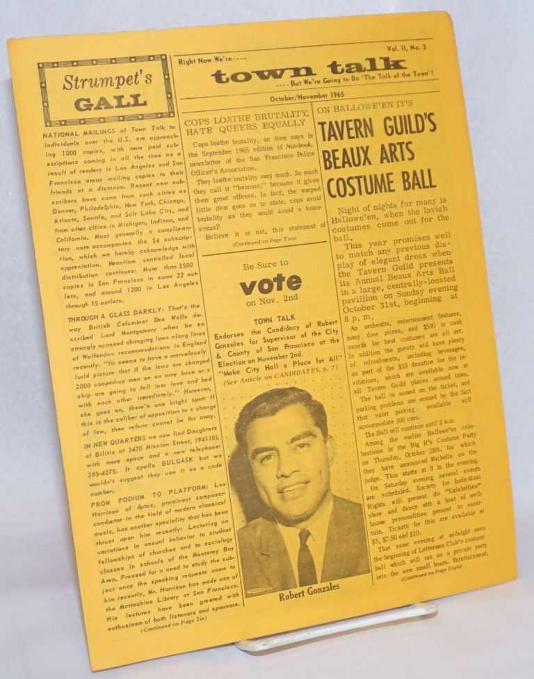 Town Talk: vol. 2, no. 3, October/November 1965. Hal Call.