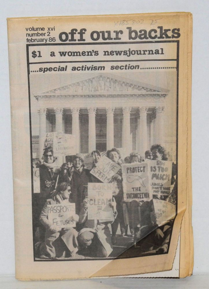 Off our backs: a women's news journal; vol. 16, #2, February 1986