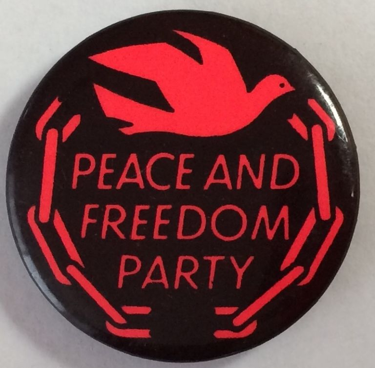 Peace and Freedom Party [pinback button]