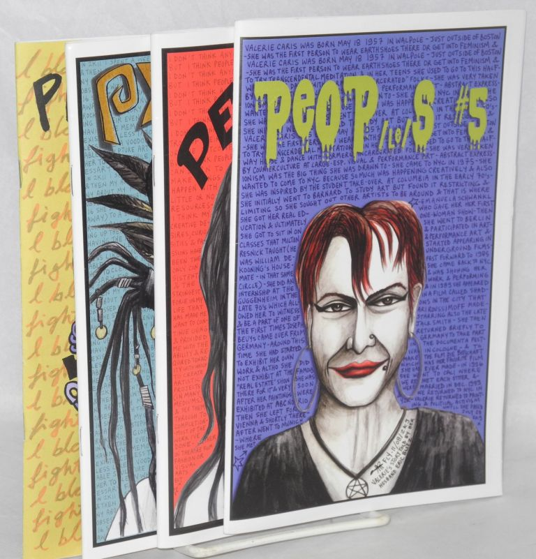 Peops [four issues of the zine]. Fly.