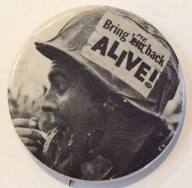 Bring me back alive! [pinback button]