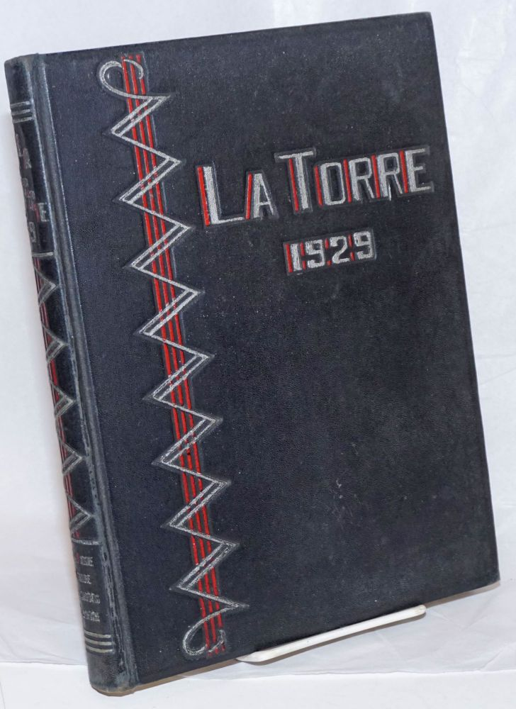The 1929 La Torre, Volume XX. Published Annually by The Associated Students of San Jose State College. James Chesnutt.