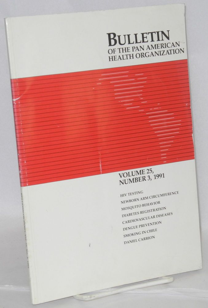 Bulletin of the Pan American Health Organization: vol. 25, #3, 1991; HIV testing in the Caribbean