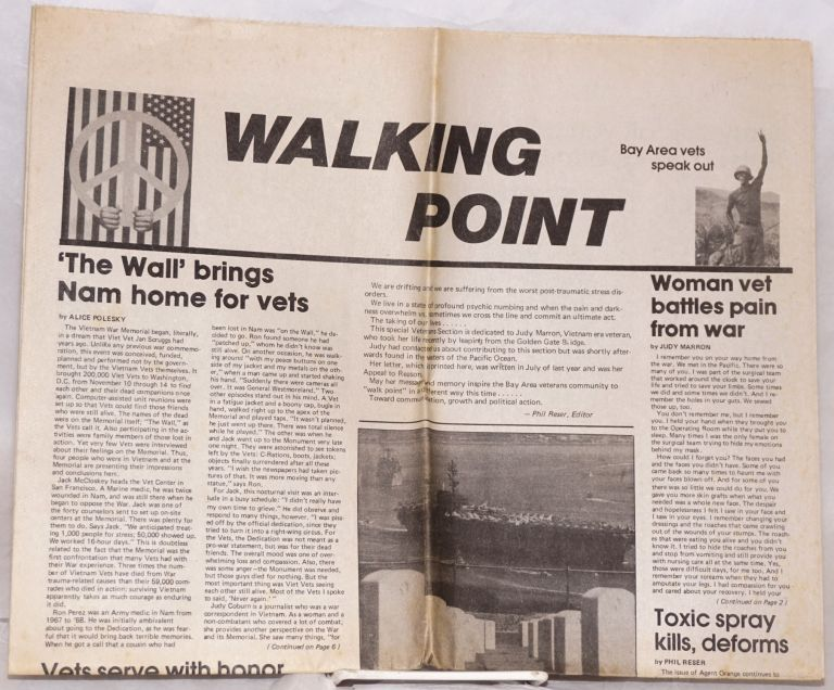 Walking Point: Bay Area vets speak out. Phil Reser, ed.