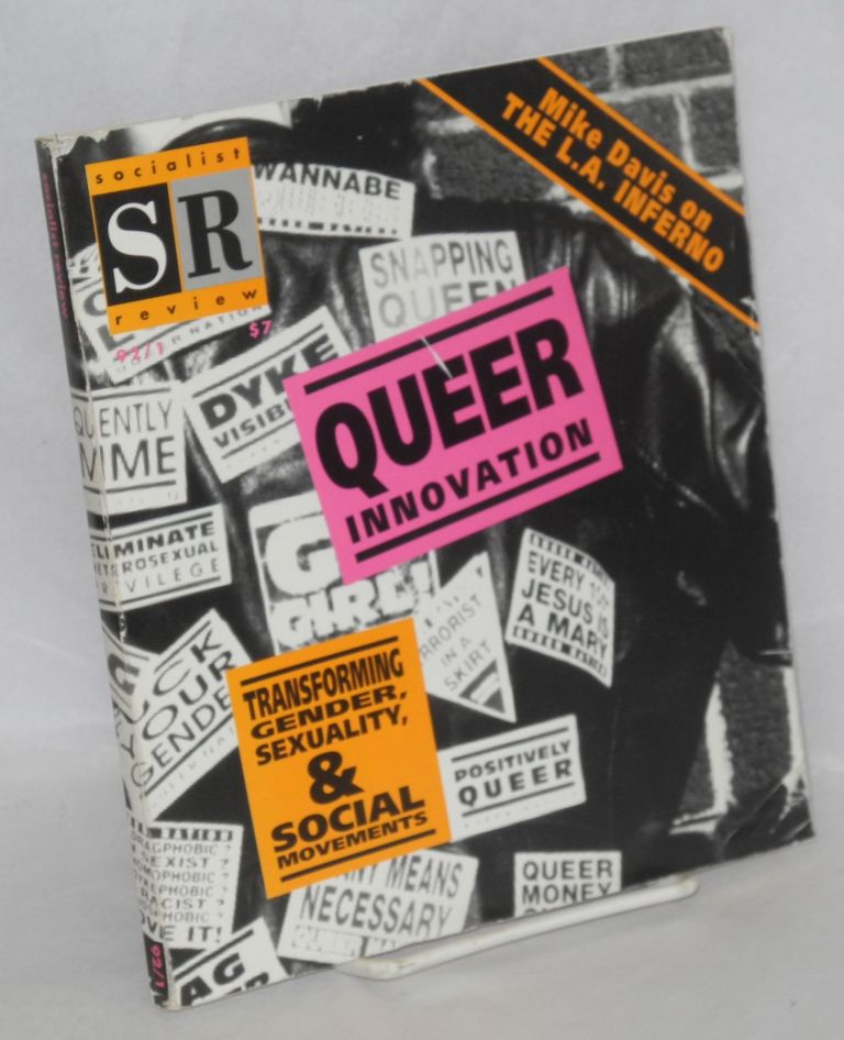 Big Sissy [sticker] with an issue of Socialist Review, volume 22, no. 1: Queer innovation issue. Queer Nation.