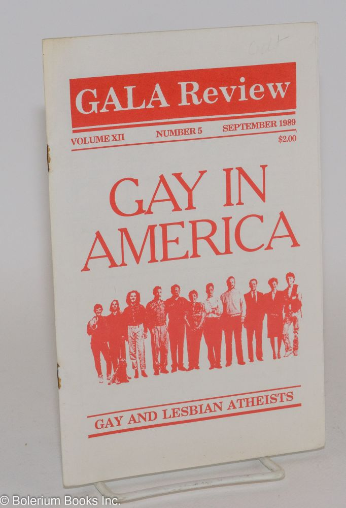GALA Review: gay and lesbian atheists; vol. 12, #5 September 1989: gay in America