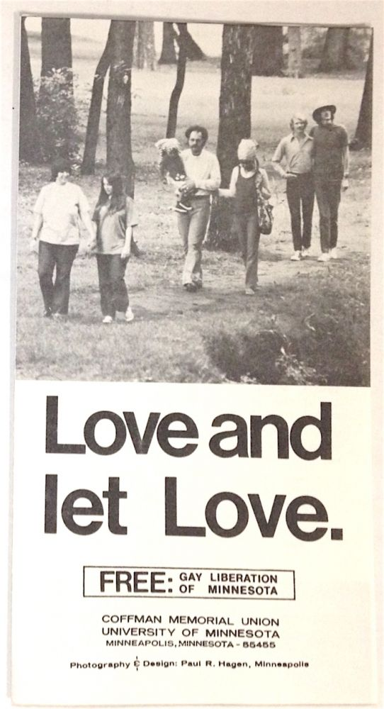 Love and let love [brochure]. FREE: Gay Liberation of Minnesota.