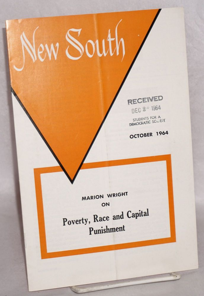 New South: volume 19, number 9, October 1964; Marion Wright on Poverty, race and capital punishment. Margaret Long, , Marion Wright.