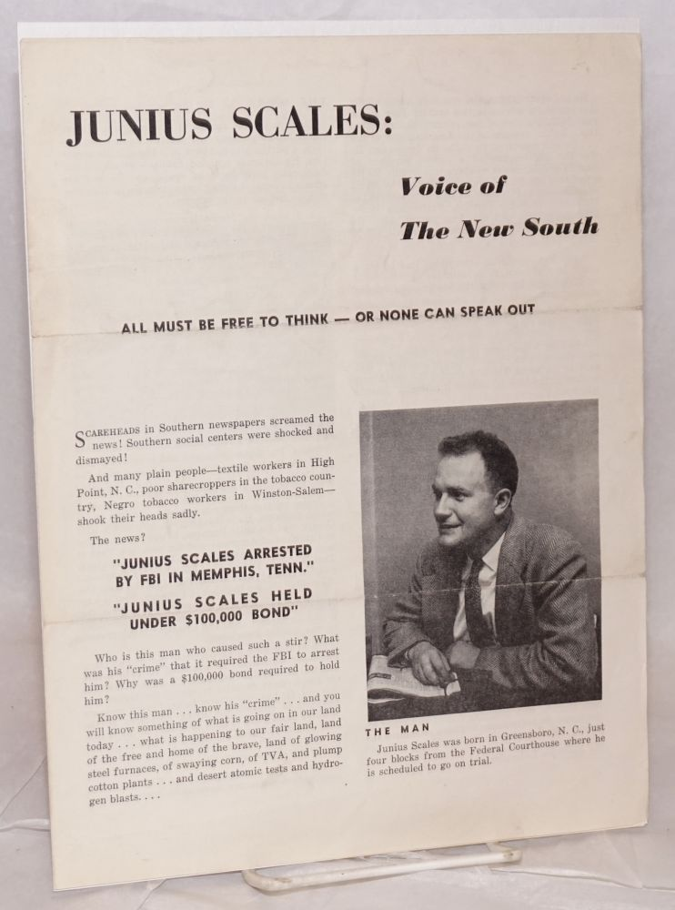 Junius Scales: Voice of the New South. Junius Scales.